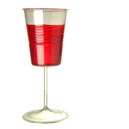 Solo cup? Wine glass? It all works, right?
