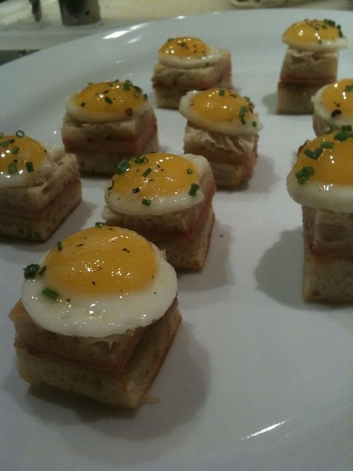 Mini Croque Madames with Quail Eggs | Food I Cook | Pinterest