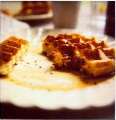 Waffles, one yeasted one buttermilk. For those days when I feel like ...