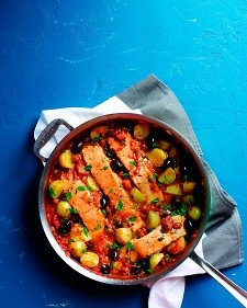 Salmon and Potatoes in Tomato Sauce...sounds delish, but I wonder if I ...
