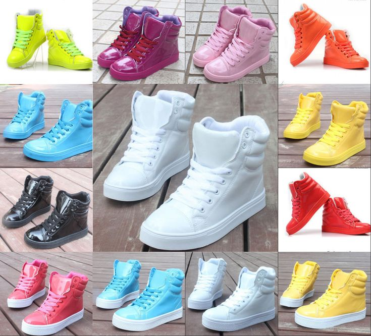 Women's High fashion Candy color cute sweet Hip-hop sport shoes boots