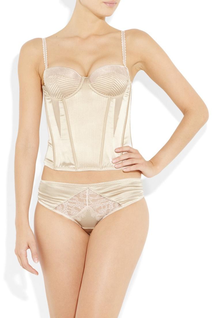 Stella McCartney|Josephine Marrying satin corset|NET-A-PORTER.COM,Bridal Lingerie, Lingerie, Bridal, Bride, Wedding, Honeymoon