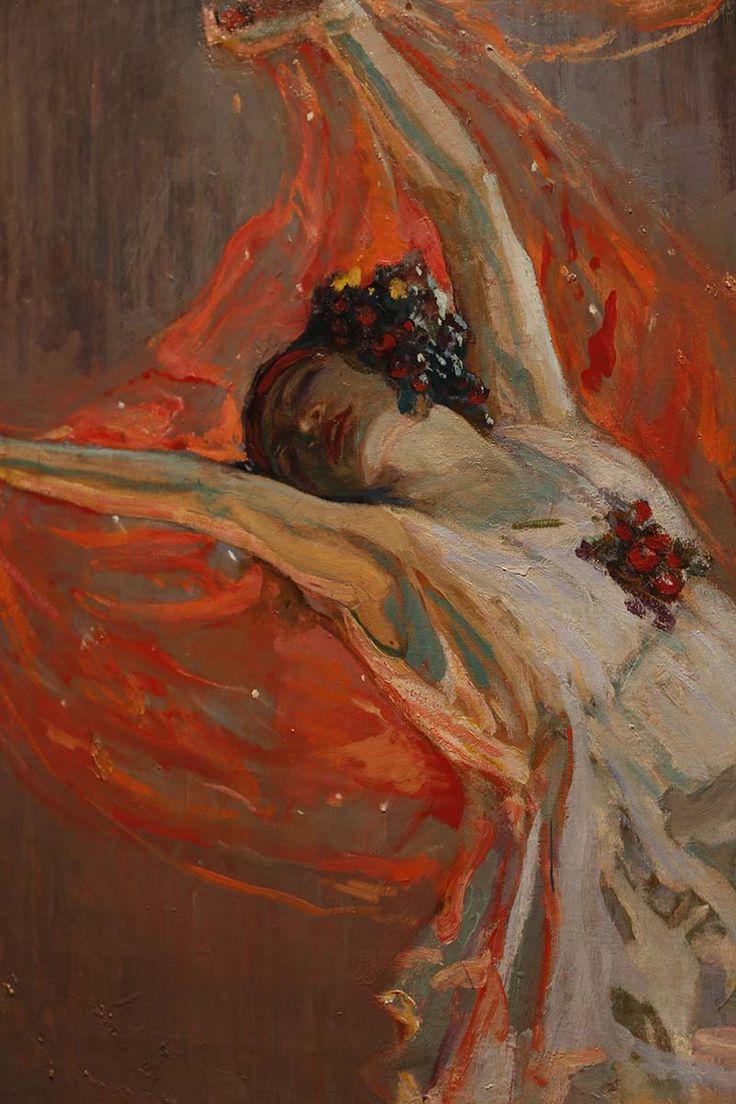 Anna Pavlova retratada por John Lavery (1911)