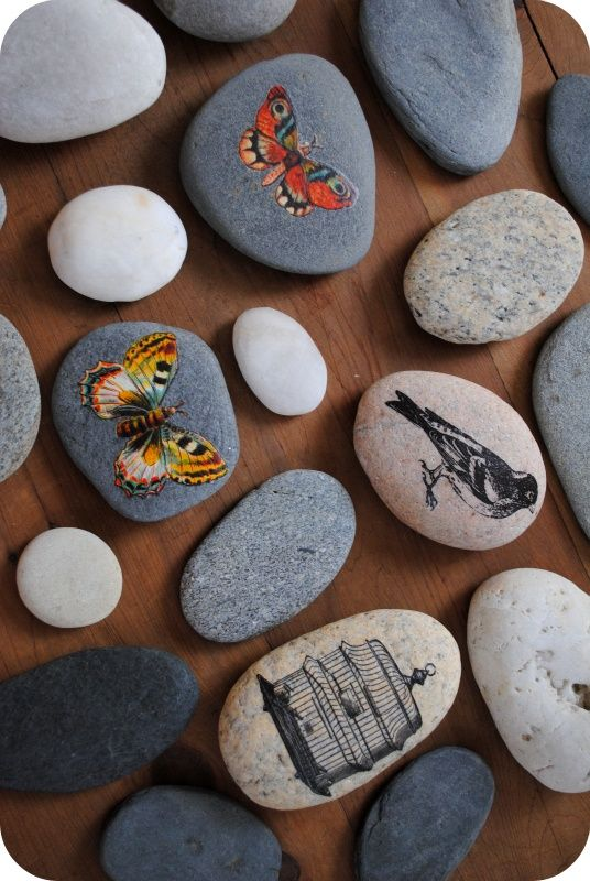 Transfers on stone diy crafts craft ideas pinterest for Crafts using stones