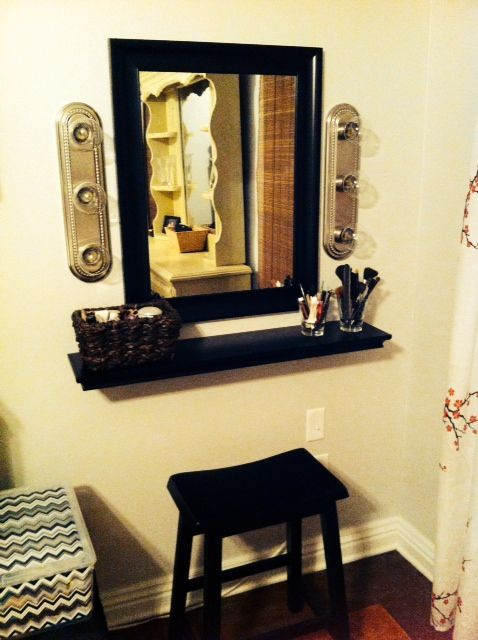 Diy Makeup Vanity For The Home Pinterest