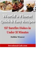 "Congratulations!    You Can Now Download Your Free Copy of the    ""World's Finest Quick and Easy Recipes"" Cookbook."