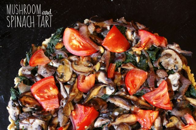 mushroom and spinach tart | Healthy Food | Pinterest