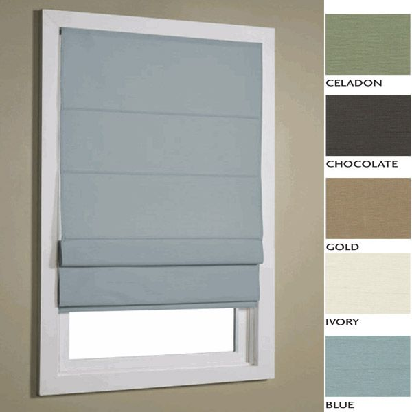 """Ivory Faux Silk Insulated Thermal Roman Shades - 36"""" x 72"""" - FINAL"""