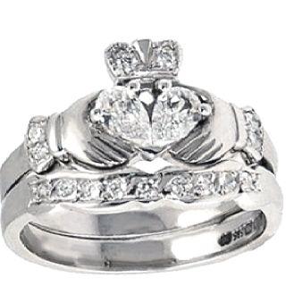 Diamond Claddagh Engagement Ring Set My Favorite Engagement Ring I 39 Ve
