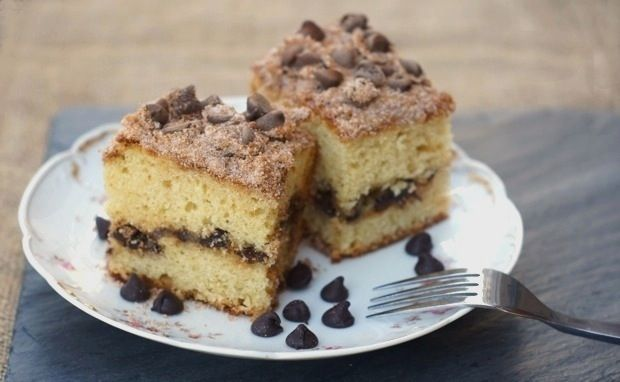 chocolate chip coffee cake makes about 9 servings, adapted from two ...