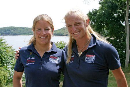 Amanda Clark( left) and Sarah Lihan in local Shelter Island paper