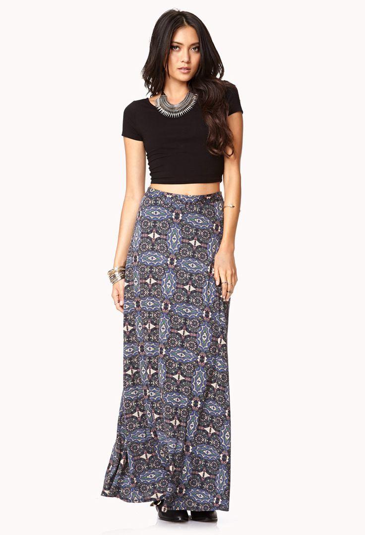maxi skirt crop top style
