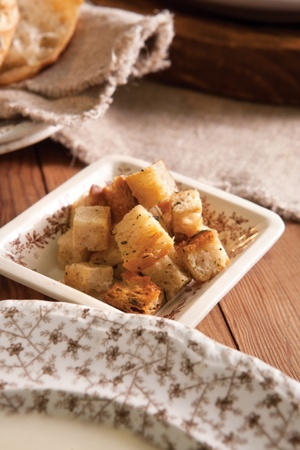 Garlic Butter Croutons | Food To Try | Pinterest