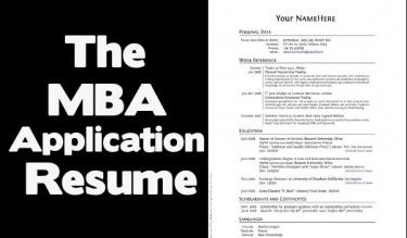 Mba application resume