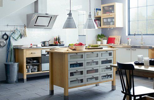 Ikea Unit As Kitchen Island For The Home Pinterest