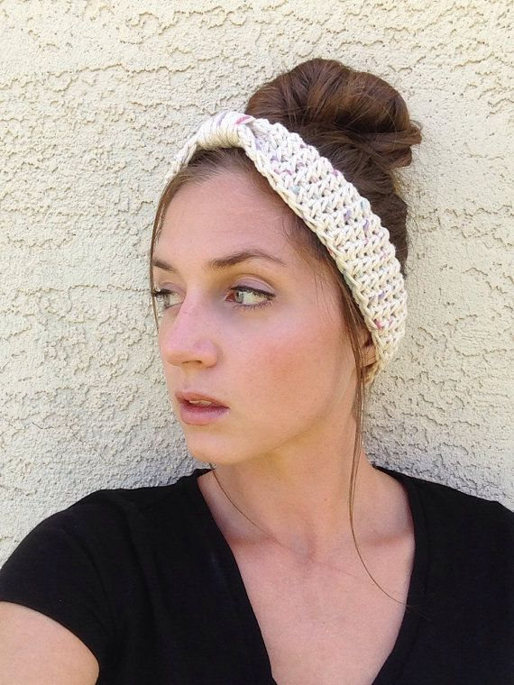 Crochet Hair Towel : Crochet Headband, Crochet Ear Warmer, Crochet Turban, Headband, Ear W ...