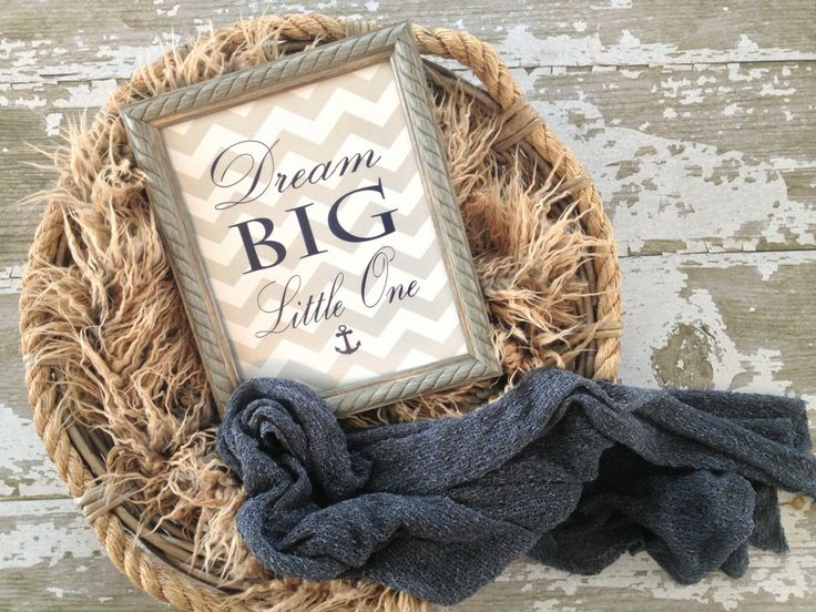 """Dream Big"" Nautical Nursery Quote Print from @Lindsay Brodock - #munire #pinparty #MadeInUSA"