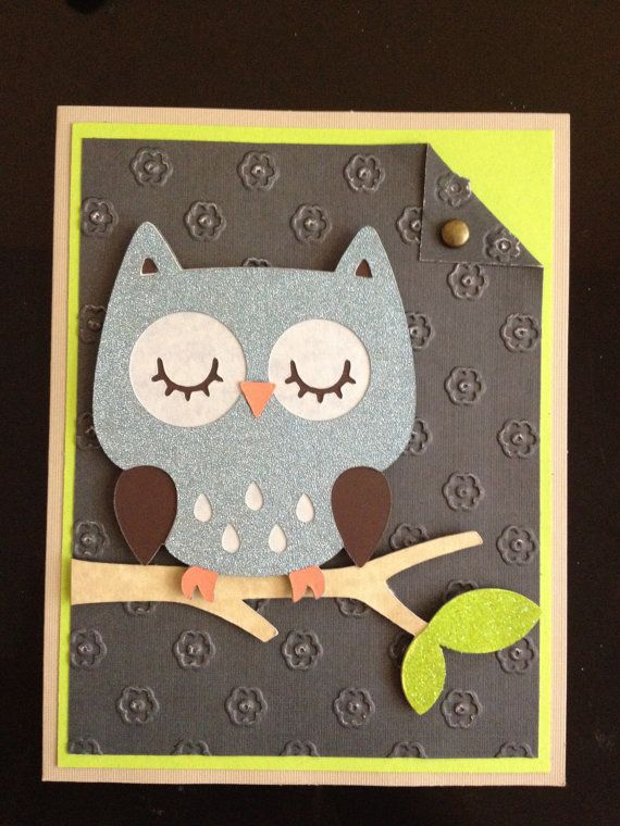 Handmade Owl Greeting Card for any occasion