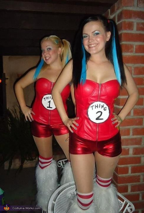 Thing 1 and Thing 2 Costumes <3 2012 Halloween Costume Contest