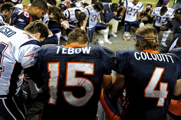 Praying with the Pats! =]