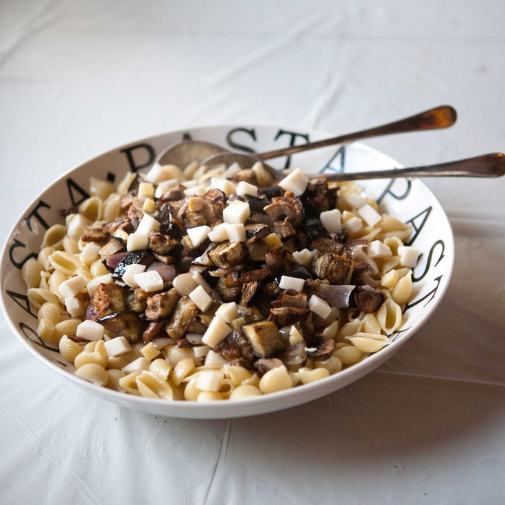 Roasted Eggplant & Mushroom Pasta | to eat | Pinterest