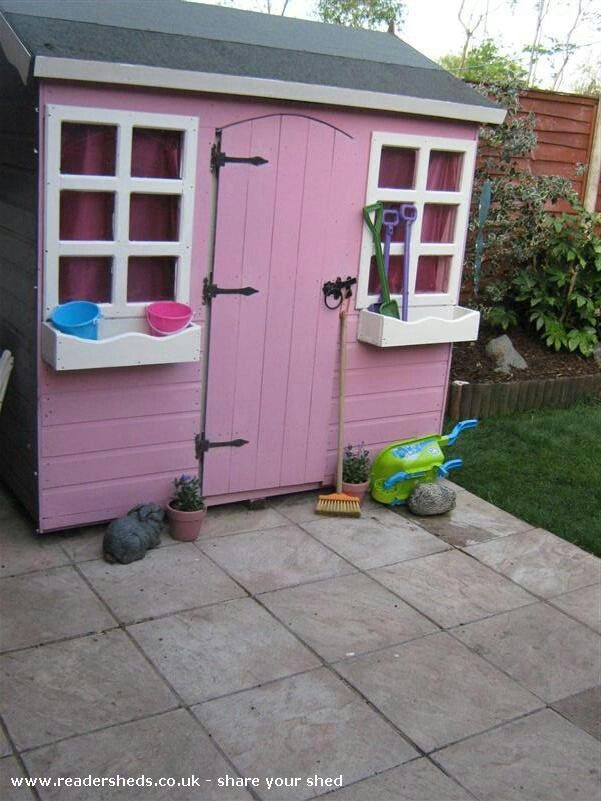 Pretty pink garden shed Garden Shed Cool Pinterest