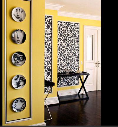 Pinterest for Black white yellow bedroom