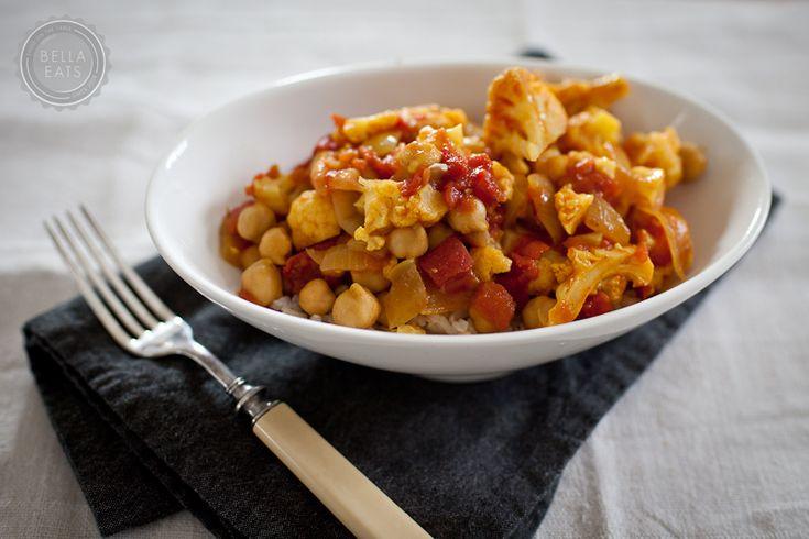 Curried Cauliflower, Chickpeas, And Tofu Recipe — Dishmaps