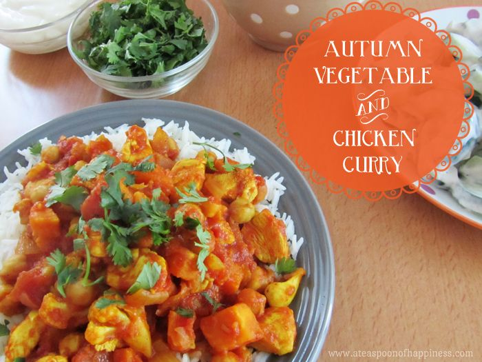 Autumn Chicken and Vegetable Curry - A Teaspoon of Happiness