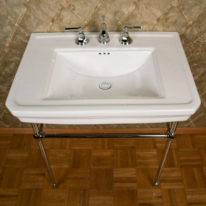 Console Bathroom Sinks : Pool bath, console sink bathroom Pinterest