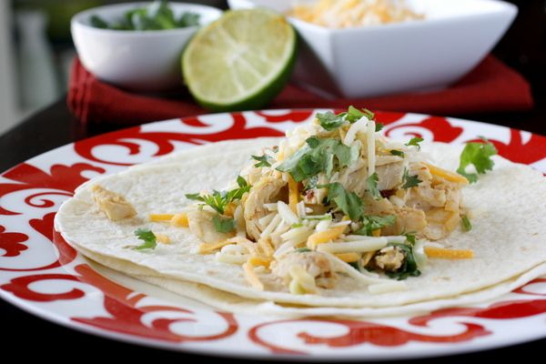 Chicken soft tacos with lime and cilantro {what megan's making}