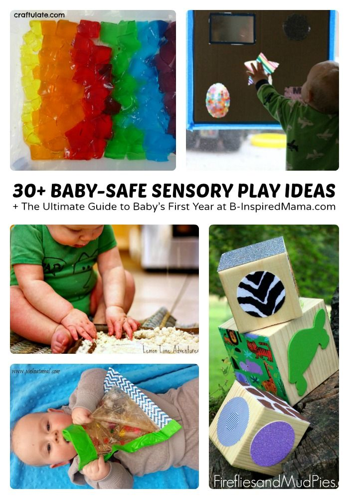 30+ Baby Safe Sensory Play Ideas + The Ultimate Guide to Babys First Year at B-I