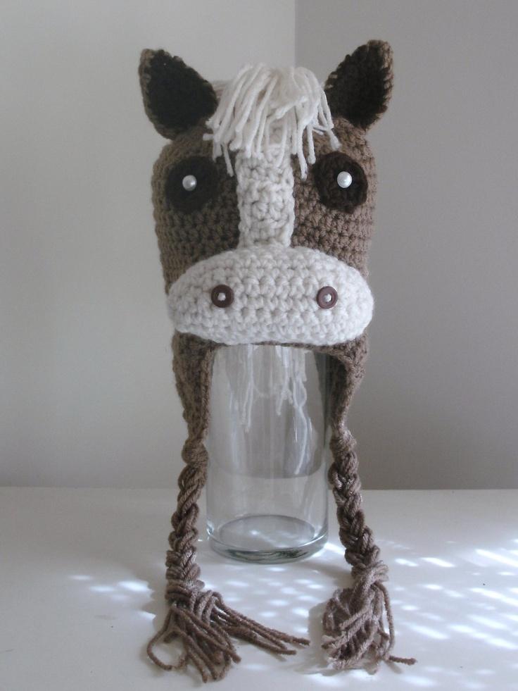 Free Crochet Patterns For Animal Earflap Hats : Pin by Debbie Kaye on crochet hats animal Pinterest