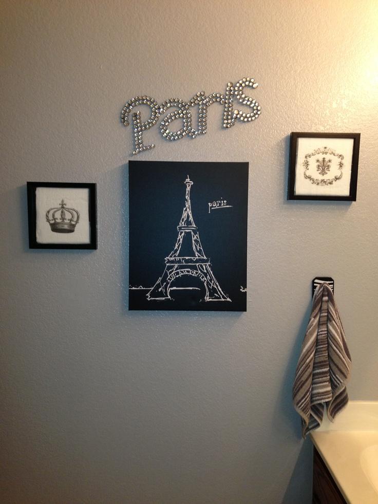 Paris theme bathroom house pinterest for Themed bathroom accessories