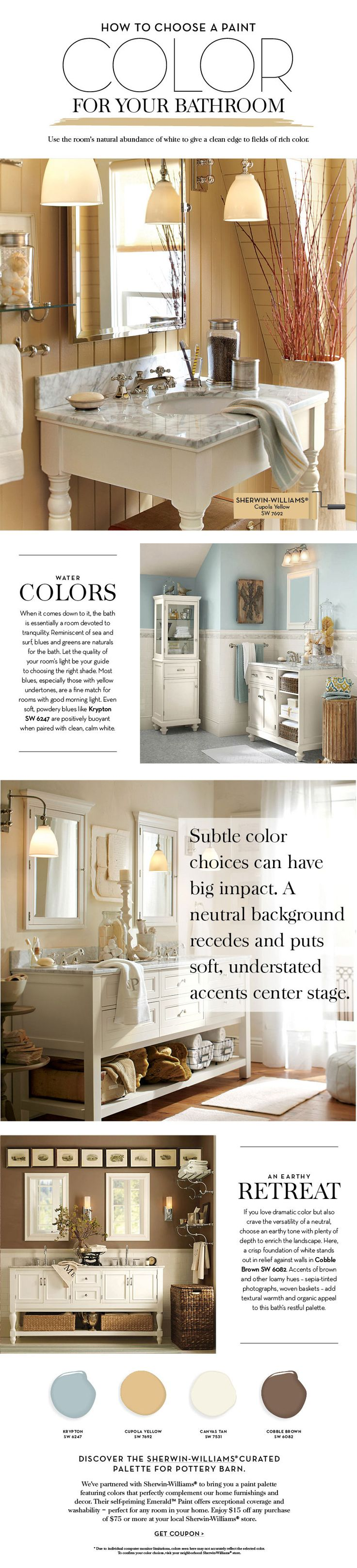 Choose a Paint Color For Your Bathroom | Pottery Barn
