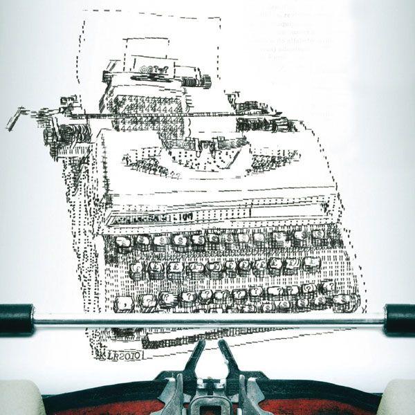 desenhos com máquina de escrever