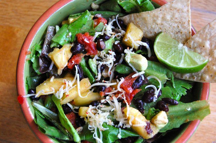 Black Bean, Pineapple & Avocado Salad | Food | Pinterest