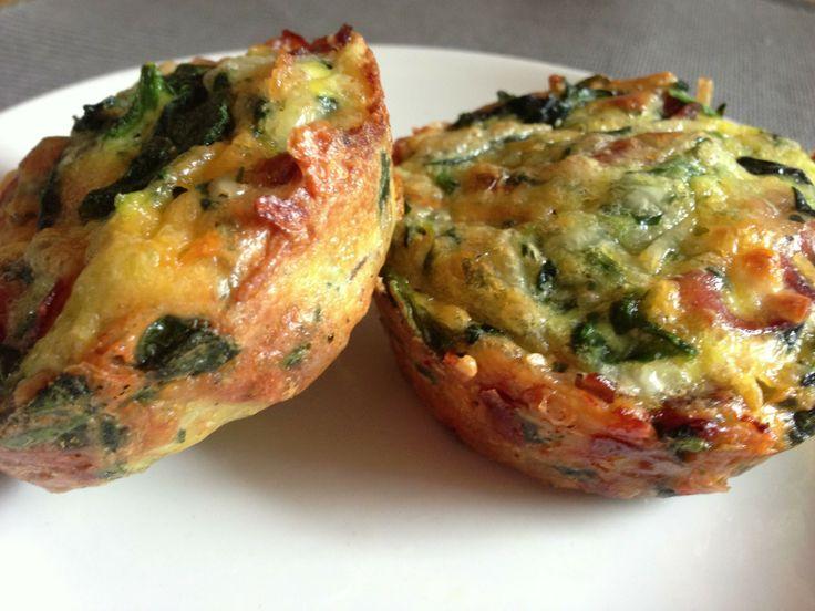 Crustless Mini Quiches | Damn Delicious | Pinterest