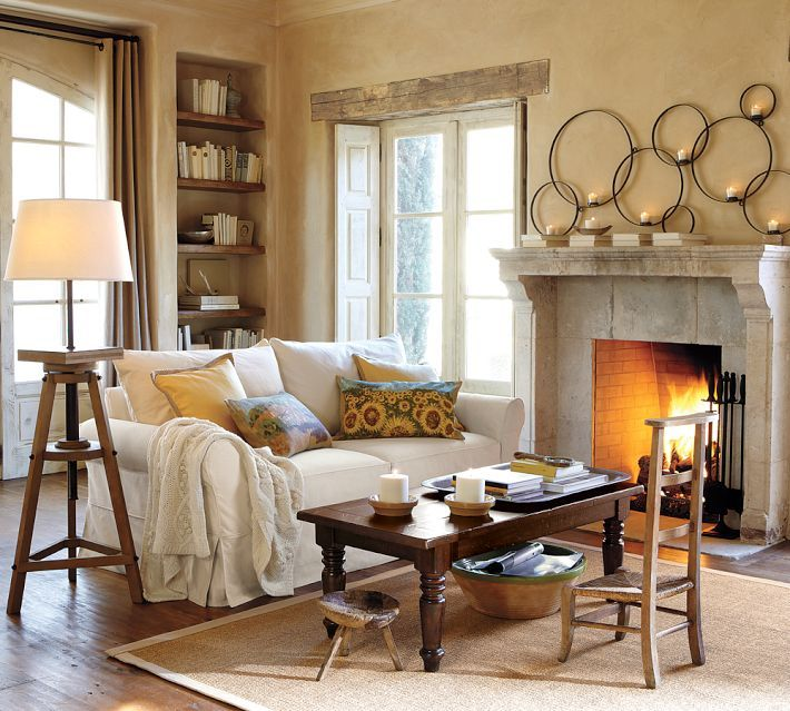 pottery barn living room to nest living rooms pinterest