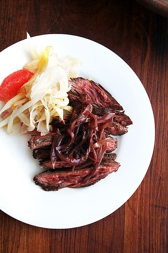Skirt or Flap Steak with Shallots | Recipe