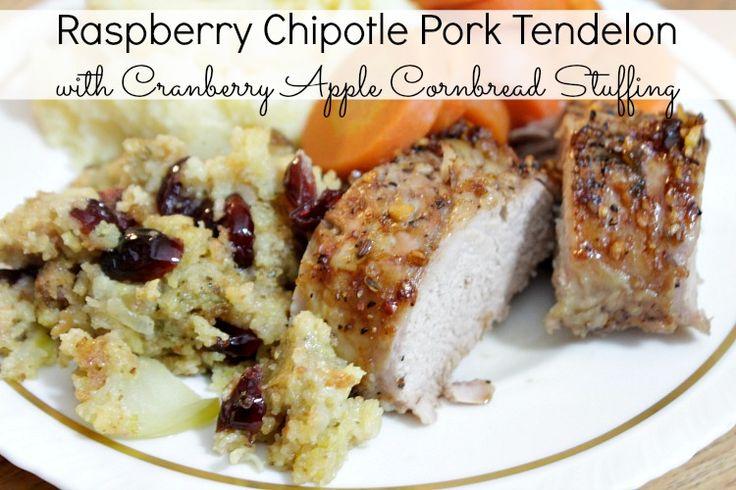 Chipotle Pork Tenderloin w/ Cranberry Apple Cornbread Stuffing ...