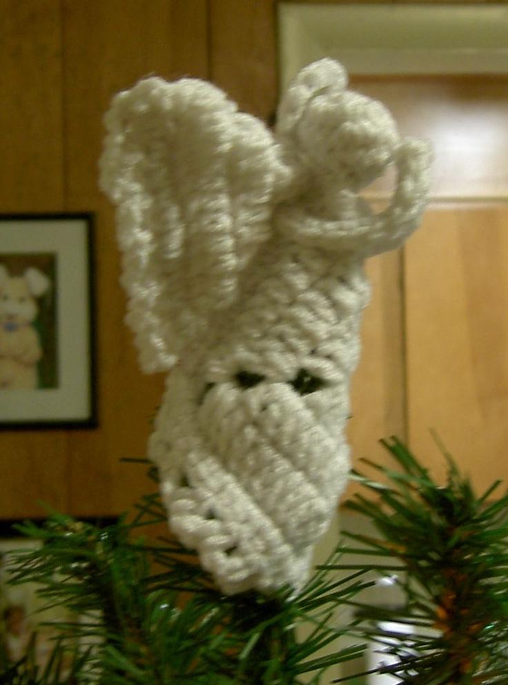 Crochet Granny Square Angel Cristmas jule stuff Pinterest