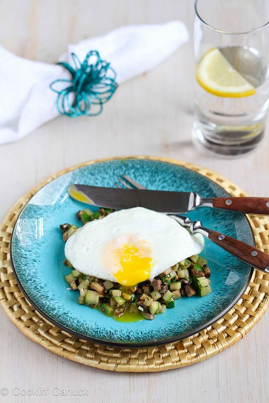 Quick Mushroom, Zucchini & Thyme Sauté with Fried Egg. 1 tsp olive ...