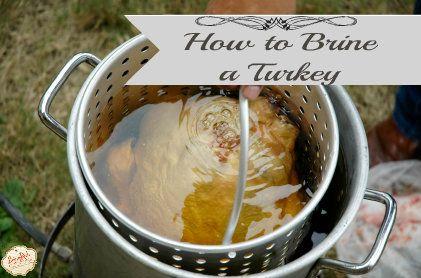 your Turkey Brine ready. If you missed my favorite Turkey Brine ...
