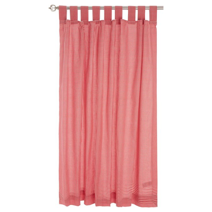 george home red gingham curtains w66 x l54 in