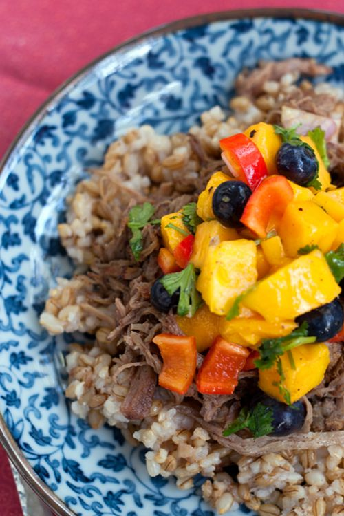 Slow Cooked Jerk Pork With Caribbean Salsa Recipe — Dishmaps