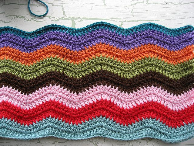 Crochet Ripple Blanket : Crochet Ripple Blanket Crochet Misc Pinterest