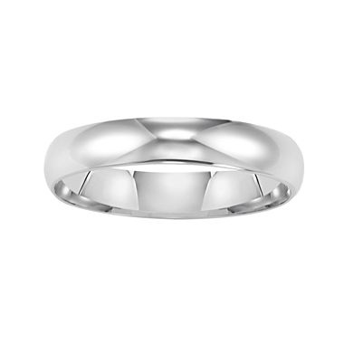 White Gold Wedding Band, Women's 4mm 14K - jcpenney