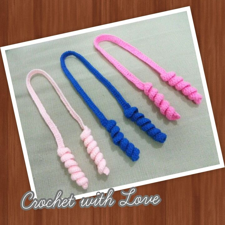 Crochet Curly Q Hair Ties : Handmade Curly Hair Ties - by Crochet with Loves (Jennifer)