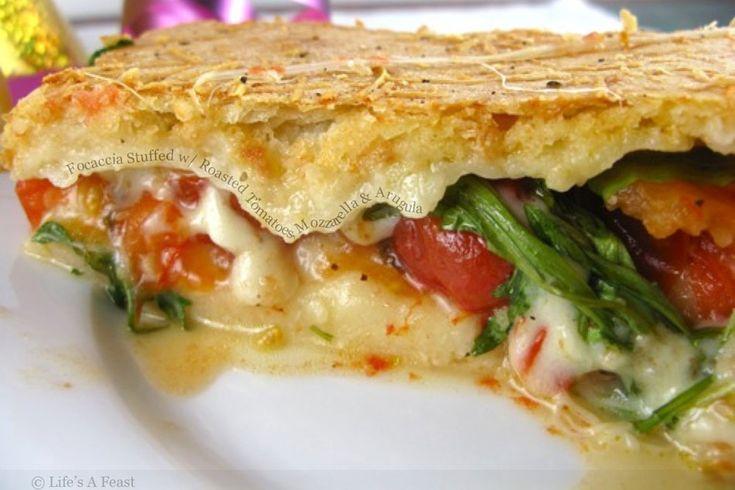 Arugula, Mozzarella, Tomato On Focaccia Recipe — Dishmaps